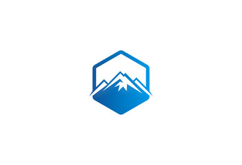 mountain icon vector logo
