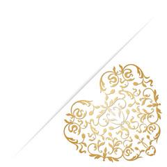 Golden ornamental heart.
