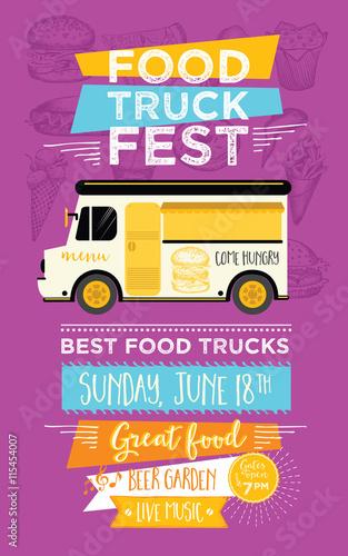 Food Truck Party Invitation Food Menu Template Design Food Flyer - Food truck flyer template