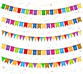 Celebration background with garlands of flags