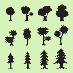 Tree silhouettes collection