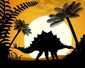 Dinosaur Stegosaurus. Vector illustration.