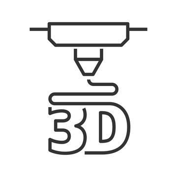 3D printer line style icon