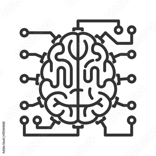 u0026quot brain as central processing unit with elements of printed