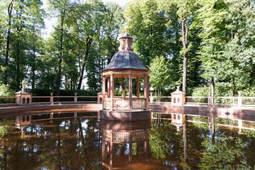 "Bosquet ""Menazheriyny pond"" in the Summer Garden of Saint Petersburg"
