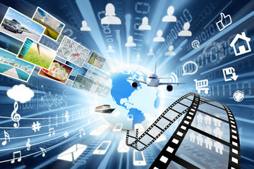 Data transfer in multimedia sharing concept