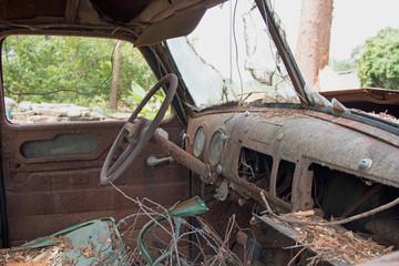 old car/interior