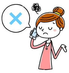 イラスト素材:電話をする女性