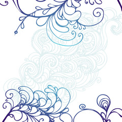 hand drawn ink doodle ornament on white background. design for adults, poster, print, t-shirt, invitation, banners, flyers.