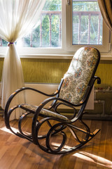 The rocking chair in the living room