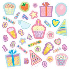 Набор разноцветных изображений к празднику.