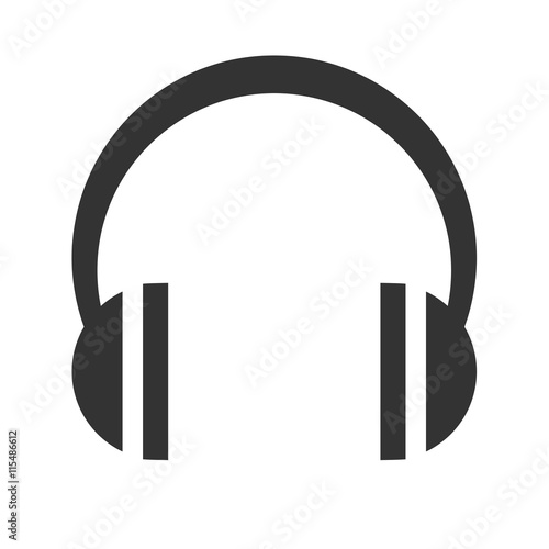 """Headphones icon. Headphones logo. Simple flat picture of ..."