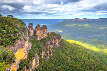 Three sisters in Blue mountains, Australia Wall mural