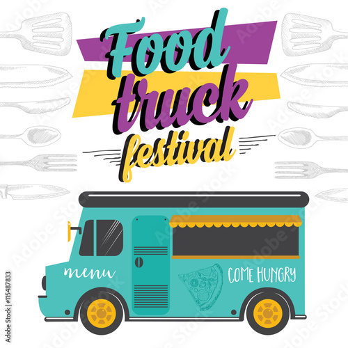 Food truck party invitation food menu template design for Design food truck online