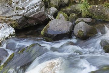 river and rocks landscape