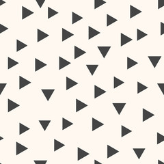 Geometric vector pattern with grey triangles. Seamless abstract background