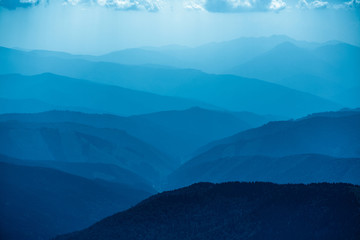 Wall Murals Mountains Blue mountains in Ukraine Carpathians