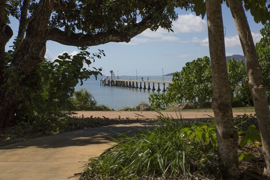 New jetty at Cardwell, replacing earlier jetty destroyed in Cyclone Yasi. Far North Queensland. Wet Tropics.