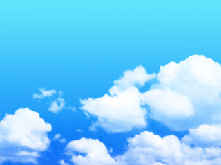 Clouds in blue the sky