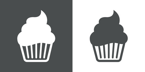 Icono plano cupcake