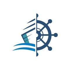 Yacht logo design vector