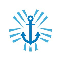 Yacht logo design vector