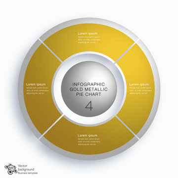 Business Chart Design #4 Equal Parts_Gold Metallic Graphics