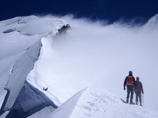 Climbing Mont Blanc France