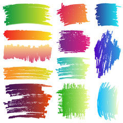 Banner ink paint gradient set with Beautiful color