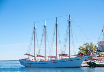 White Four Masted Schooner