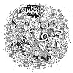 Doodles abstract decorative summer vector illustration