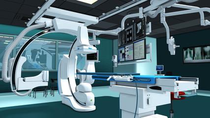 Moderner OP für Herzchirurgie.