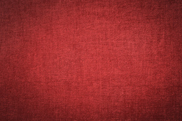 Red fabric texture wallpaper background.