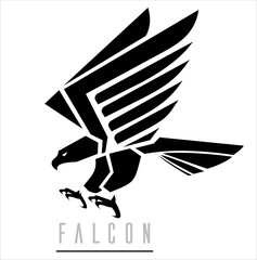 Black Falcon.Attacking Falcon.
