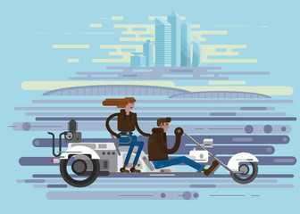 trike, saver, background, illustration for gaming applications, web design, graphic design.