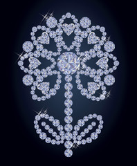 Diamond flower, vector illustration