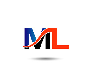 ML company linked letter logo