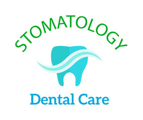 Dentist logo implants vector medical symbol badge. Clean dentist logo bright designs medical icon health care. Healthy hygiene dentist logo, oral blue logotype implant dent business shape.
