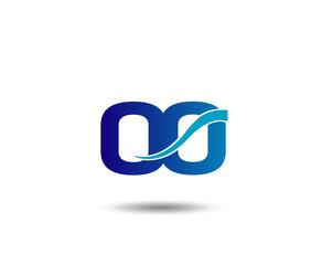 OO Logo Vector Graphic Branding Letter Element