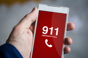 holding emergency call smartphone