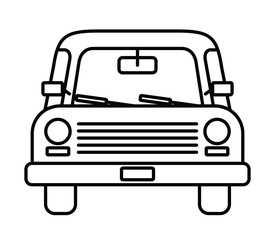 car drawing front isolated icon design