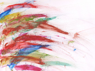 Abstract beautiful paint with vibrant colors on paper background