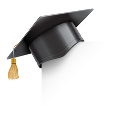Graduation Cap on Paper Corner