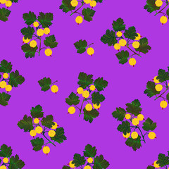 Colored gooseberries seamless pattern.