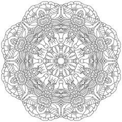 Mandala. Ethnic decorative elements. Hand drawn background.