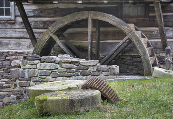 Old Millstones and Mill Wheel