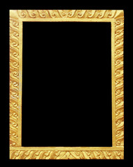 Art stucco Thailand gold used to make picture frames on black ba