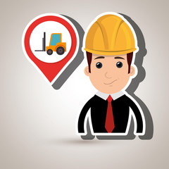 man and mounted load isolated icon design, vector illustration  graphic