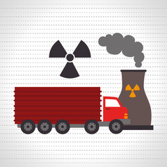 truck and reactor isolated icon design, vector illustration  graphic