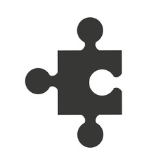 puzzle piece isolated icon design